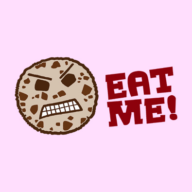 Funny and Cute Eat Me Cookie attitude t-shirts and clothing